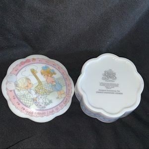 Vintage Precious Moments Trinket Bowl with Lid